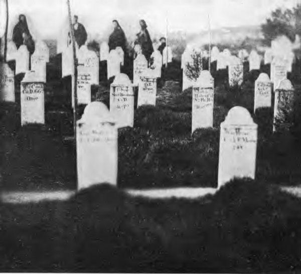 Gravestones at Bull Run