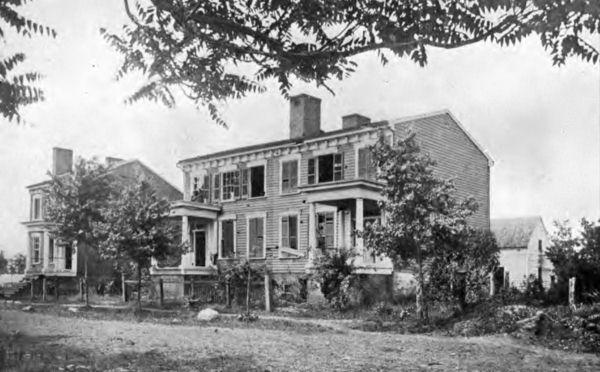 Shot-riddled Homes In Fredericksburg, Virginia