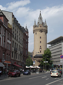 Eschenheim Tower in Frankfurt, Germany