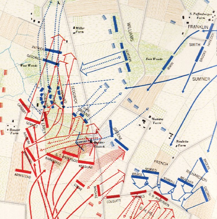 Map Of General Sedgwick S Assault On The West Woods